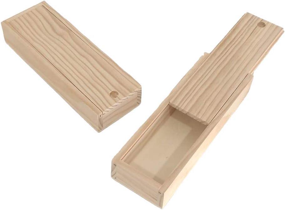 Caja plumier madera. En crudo, para decorar. En pino macizo. Para ...