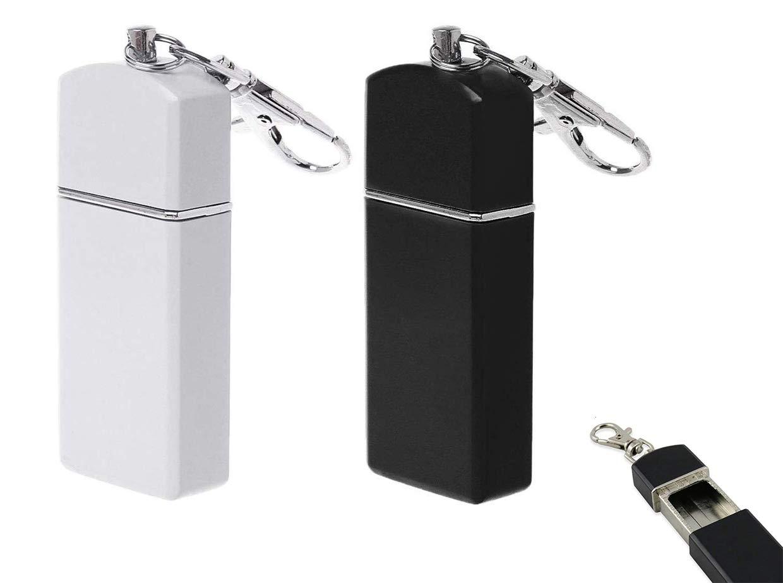 Mini Cendrier de Poche Anti Odeurs Cendrier Portatif Cendrier avec Porte-cl/és Mini Acier Inoxydable Cendrier avec Porte-cl/és Cendrier Portable Cendrier de Poche de Voyage Portable