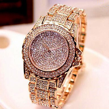 687343512 Fashion Watches New Luxury Crystal Diamond Watches Women Gold Watch Steel  Strip Rose Gold Sparkling Dress