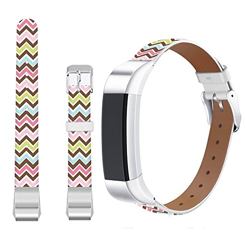 Jolook for Fitbit Alta HR WristBands Leather Chevrolet,Jolook Replacement Leather Wristband Straps Bands for Fitbit Alta HR /for Fitbit Alta - Colorful Chevrolet Chevy Metal Band Watch
