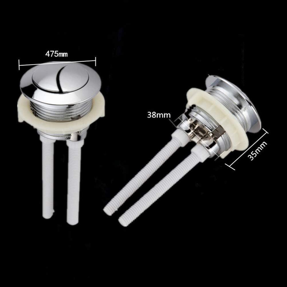 di/ámetro 38 mm TOPBATHY Bot/ón de Descarga de Doble presi/ón con Rosca de 2 Piezas para el Tanque de Agua del Inodoro