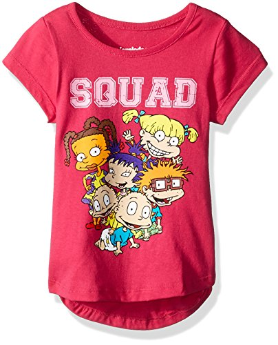 Nickelodeon Girls Little Rugrats Short Sleeve tee, Pink, 5