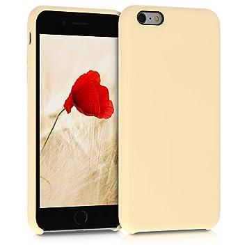 kwmobile Funda para Apple iPhone 6 Plus / 6S Plus - Carcasa de [TPU] para teléfono móvil - Cover [Trasero] en [Amarillo Claro]