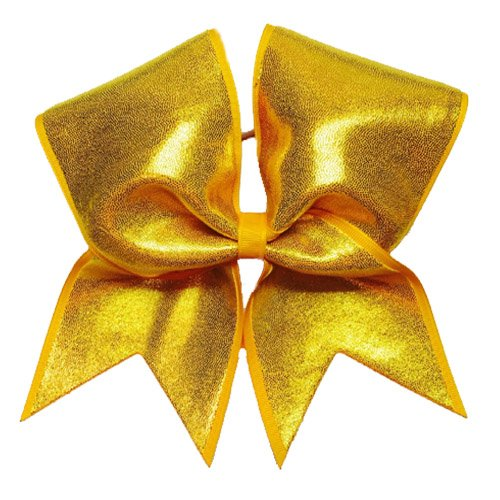 Chosen Bows Yellow Gold Big Shimmer Cheer Bow