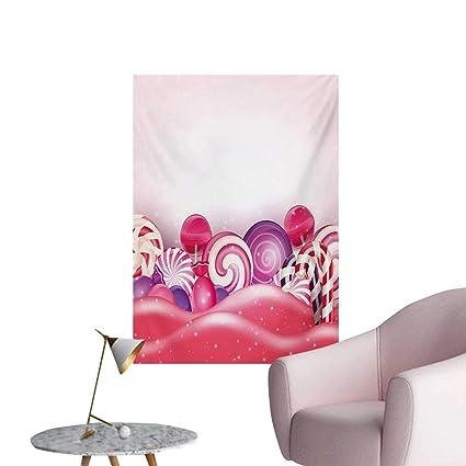 Amazon Com Anzhutwelve Modern Wallpaper Cute Rainbow Swirl