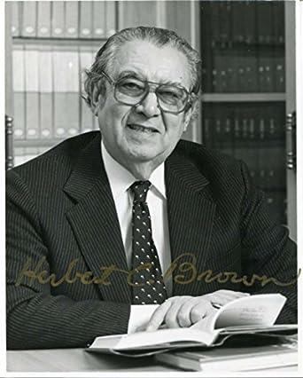 Herbert C Brown Nobel Prize CH 1979 Autograph Signed Photo