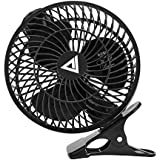 USB Clip Fan, Collen Quiet Wind 7 Table Fans for Home Office Baby Car Laptop Study Table (Piano Black)