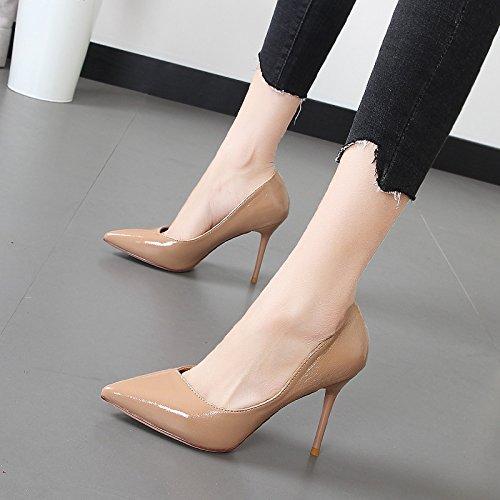 Xue Qiqi Tipp bemalte Leder High High High Heels Mädchen feine und elegante Grafiken dünne rote Hochzeit Schuhe für Frauen singles Schuhe e2a447