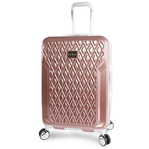 BEBE Women's Stella 21'' Hardside Carry-on Spinner Luggage, Rose Gold by bebe