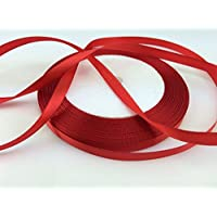 "Solid Color Satin Ribbon 1/4"",25yds (red)"