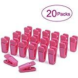 CoolYeah Hot Pink Slim-line Set of Hanger Clips Finger Clips (Pack of 20)
