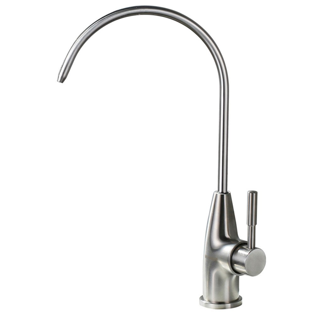 C Decorry Straight Water, Pure Water, Water Purifier, Water Faucet, Single Cold Kitchen, Lead-Free 304 Stainless Steel,C
