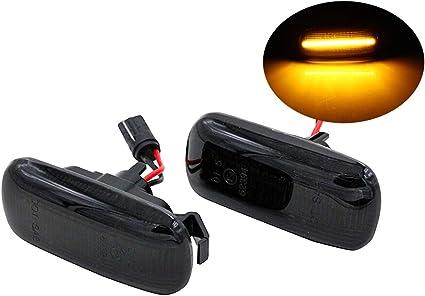 Naliovker 2 Piezas Coche LED Luz de Marcador Lateral Luz de Se?al de Intermitente L/áMpara de Repetidor Lateral para Discovery TD5