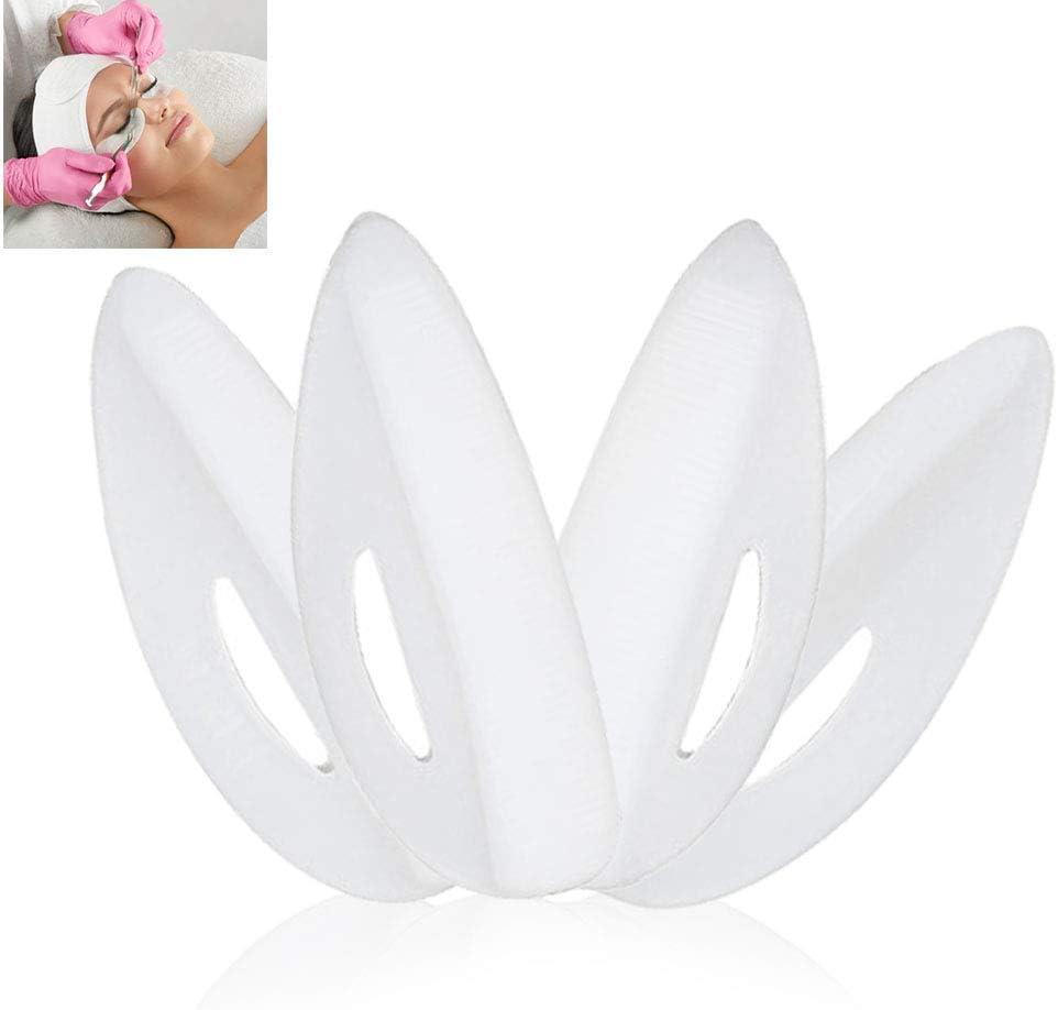 Almohadilla de extensión de pestañas, herramienta de plástico natural y segura False Eye Lash Pad Curler Curling Perming Kit