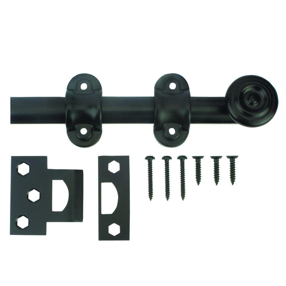 Everbilt 6 in. Oil-Rubbed Bronze Decorative Surface Bolt