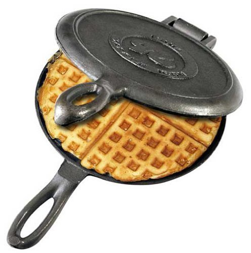 Solid Cast Iron Old Fashioned Waffle Iron by Rome's Original (Cast Iron Waffles compare prices)