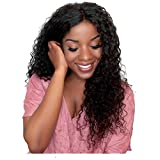 Royal-First Glueless Kinky Curly Lace Front Wig Brazilian Virgin Human Hair Wigs for Women 18inch Natural Color 150% High Density