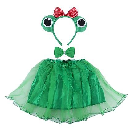 Amazon.com: Amosfun 3PCS Frog Costume Tutu Skirt Set ...