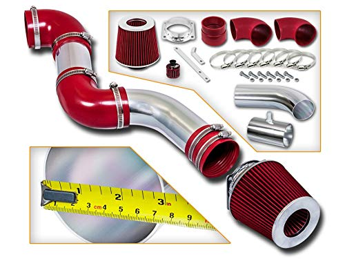 Rtunes Racing Short Ram Air Intake Kit + Filter Combo RED For 96-02 Ford Crown Victoria / 96-02 Lincoln Town Car / 96-02 Grand Marquis 4.6L V8