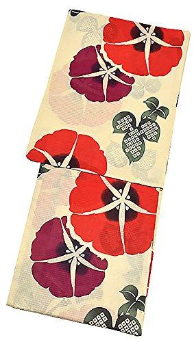 広範囲場合仕立て屋[ KIMONOMACHI ] オリジナル 浴衣単品「赤色 朝顔」