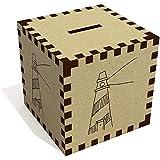 Azeeda 'Stripy Lighthouse' Money Box / Piggy Bank (MB00063363)