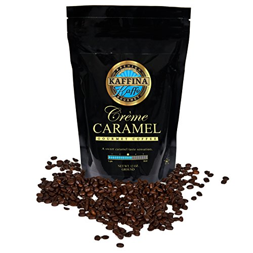 Kaffina Kaffe Premium Gourmet Ground Coffee - Flavored - Medium Rosted Crème Caramel Coffee (Blue Mountain Coffee Instant compare prices)
