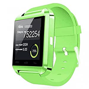 Bluetooth Smart Wrist Watch Phone Mate For IOS Android iPhone Samsung HTC LG (GREEN)