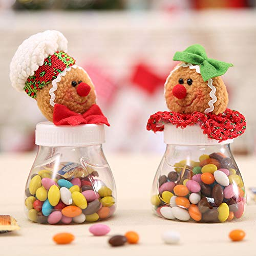 HEART SPEAKER Christmas Snowman Santa Reindeer Candy Box Jar Biscuit Sweetie Container Party Decor 5# by HEART SPEAKER (Image #4)