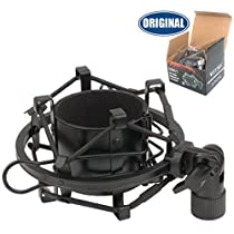 Weymic Black Universal Microphone Shock Mount for Large Diameter Condenser Mic Metal