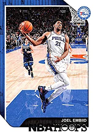 c2a9aa188efd 2018-19 NBA Hoops Basketball  166 Joel Embiid Philadelphia 76ers Official  Trading Card made