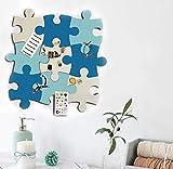 Felt Bulletin Board Cork Board Tiles, 9 pcs Wall