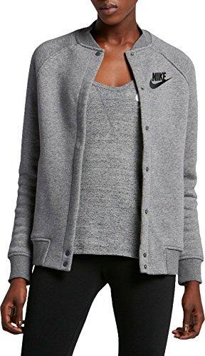 Womens Flair Hoody Jackets - Nike Women's Sportswear Rally Varsity Fleece Jacket, (Carbon Heather, XL)