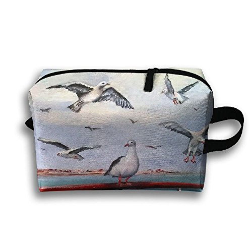 Travel Bags Seagull Cheryl Portable Storage Bag Clutch Wallets Cosmetic Bags Organizer Zipper Hangbag Carry Case -