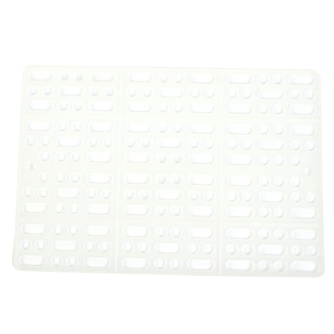 1Pc Plastic Pet Dog Cage Hole Design Mat Board Plate w Two Fixed Tabs 34.5cm x 25cm White