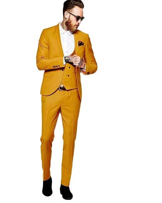KA Beauty - Traje - para Hombre Amarillo Amarillo 36