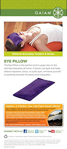 Gaiam Yoga Eye Pillow, Purple Batik