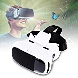 Fosa Virtual Reality VR Headset 3D Glasses Adjustable Goggles For 3.5 - 6'' Smart Phones With Package(White)