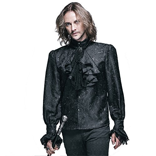 steampunk gothic men blouse shirts victorian menu0027s long sleeve shirts tops halloween costumes s