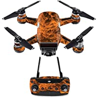 Skin for DJI Spark Mini Drone Combo - Burning Up  MightySkins Protective, Durable, and Unique Vinyl Decal wrap cover   Easy To Apply, Remove, and Change Styles   Made in the USA