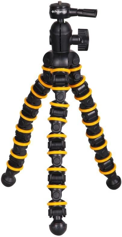 Polaroid Snap and Wrap Flexi Tripod with 360° Rotating Ball Head - Flexible Vertebrae-Like Legs & Rubberized Feet for Endless Conforming Ability & Sure Grip