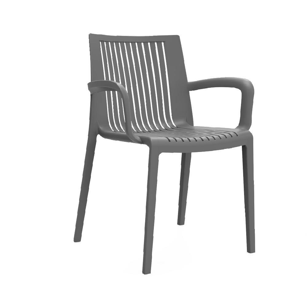 Practical Fixtures Florence Indoor & Outdoor Comfortable Plastic Chair (Beije)