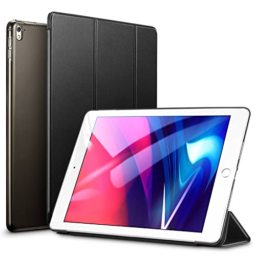 iPad pro 9.7 inch Case, ESR Smart Case Cover [Synthetic Leather] Translucent Frosted Back Magnetic Cover with Auto Sleep/Wake Function [Light Weight] (Black)