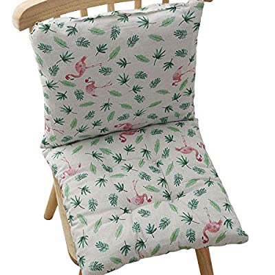 homelovely 2 Sets Outdoor/Indoor Seat/Back Chair Pads Cushion seat Dining Garden Office (Platinum Flamingo) : Industrial & Scientific [5Bkhe0804617]