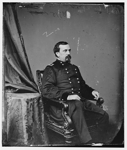 Photo: General OE Babcock,United States Army,military personnel,officers,uniforms,1860