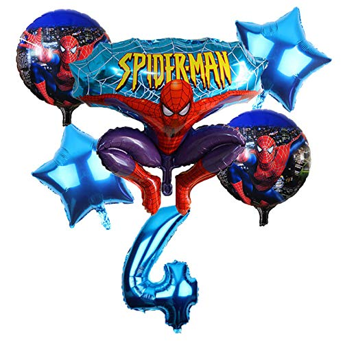 Grocoto Ballons & Accessories 6pcs/lot Spiderman Foil Balloon Birthday Party Decorations Toys for Kids Gift 32 inch Number Balloon Wholesale 1 -