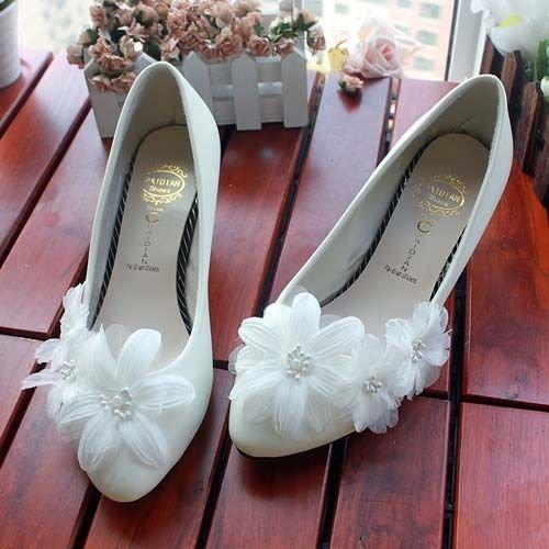 tarde la boda del la perla boda nupcial talón del blanco de blanca de JINGXINSTORE la Prom la cordón de de de alto flor la Bolso qf1tpwwAnZ