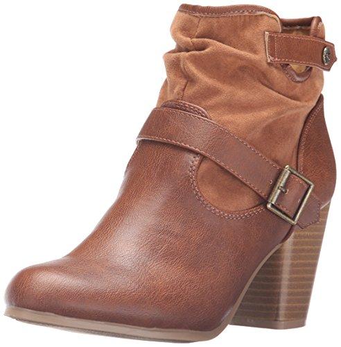 Qupid Women's Sake-88 Ankle Bootie Cognac ts9AyEnGdj