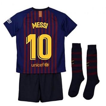 7cd13af453e UKSoccershop 2018-2019 Barcelona Home Nike Little Boys Mini Kit (Lionel Messi  10)