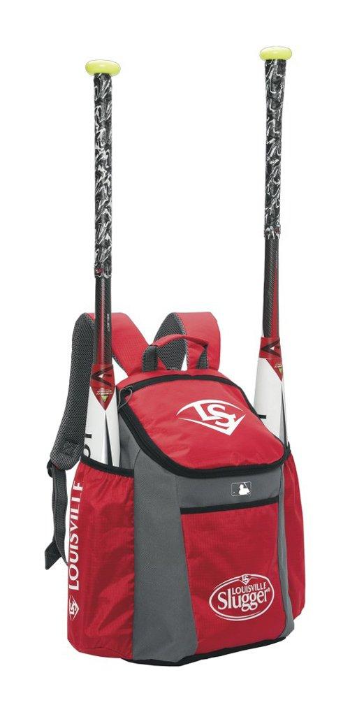 Bolsas para bates de beisbol EB Serie 3 de Louisville Slugger - WTLEBS3SP6-SR, Talla única, Escarlata