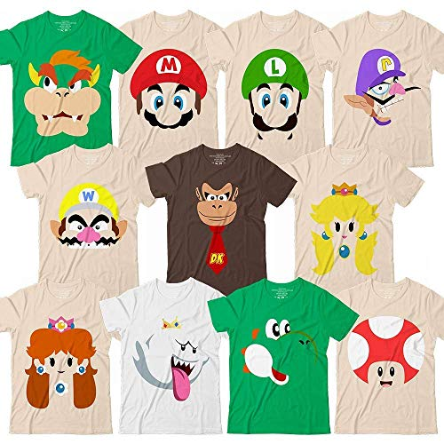 Super Maker Mushrooms Brother Characters Halloween Costume Video Game Family Cruise Group Team Matching Customized Handmade Hoodie/Sweater/Long Sleeve/Tank Top/Premium T-shirt -